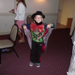 Kid Dressed Up at the Atlantic Club Formal Pajama Party