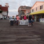 The Walk/Run for Recovery Registration Booth on the OCMD Boardwalk