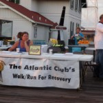The Walk/Run for Recovery Registration Booth
