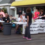 The Walk/Run for Recovery Booth on the Boardwalk