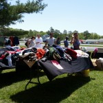 Members of The Atlantic Club in Ocean City collecting clothes and other donations.